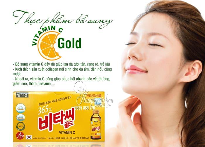 Thực phẩm bổ sung 365x Vitamin C Gold Hàn Quốc 100ml x 10 4