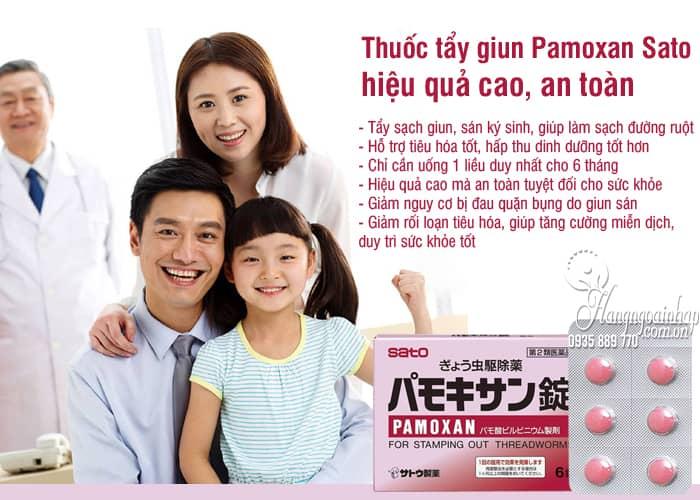 Thuốc tẩy giun Pamoxan Sato Nhật Bản, hiệu quả cao, an toàn 2