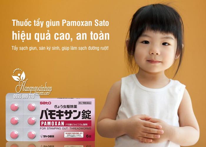 Thuốc tẩy giun Pamoxan Sato Nhật Bản, hiệu quả cao, an toàn 7