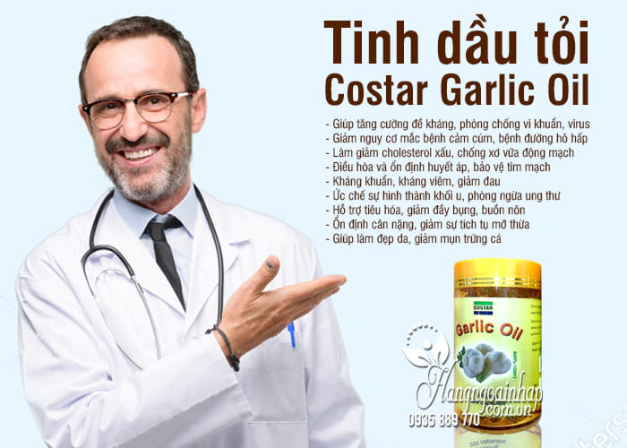 Tinh dầu tỏi Costar Garlic Oil 3000mg 200 viên của Úc 3