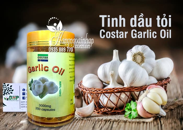 Tinh dầu tỏi Costar Garlic Oil 3000mg 200 viên của Úc 1