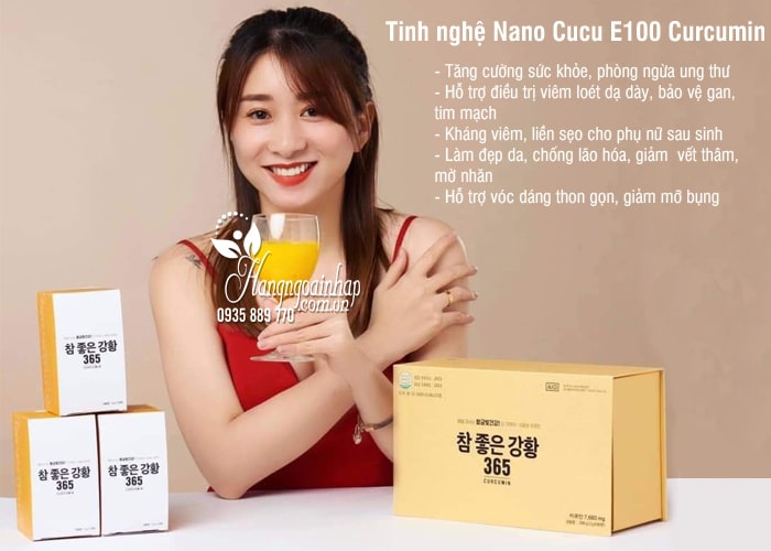 Tinh nghệ Nano Cucu E100 Curcumin Hàn Quốc mẫu mới nhất 3