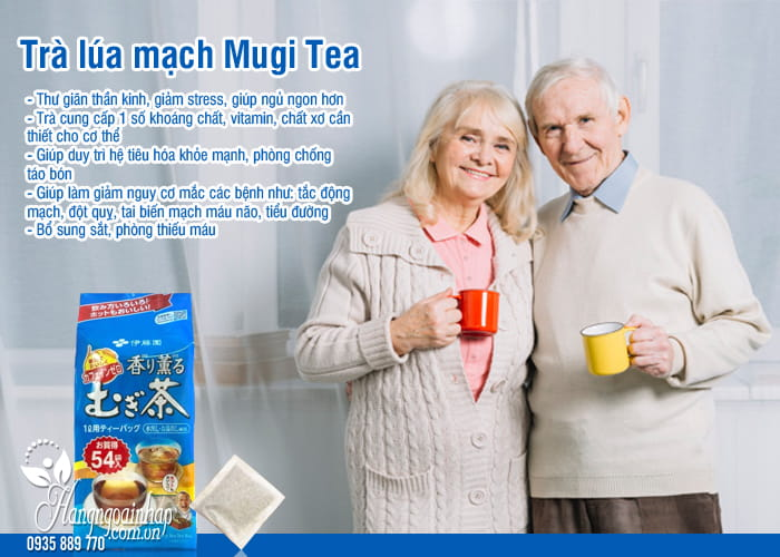 Trà lúa mạch Mugi Tea Nhật Bản 54 gói cho mọi lứa tuổi 2