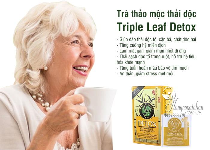 Trà thảo mộc thải độc Triple Leaf Detox của Mỹ 20 gói 7