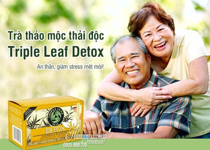 Trà thảo mộc thải độc Triple Leaf Detox của Mỹ 20 gói 1