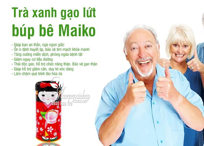 Trà xanh gạo lứt búp bê Maiko 50g Nhật Bản thơm ngon 4