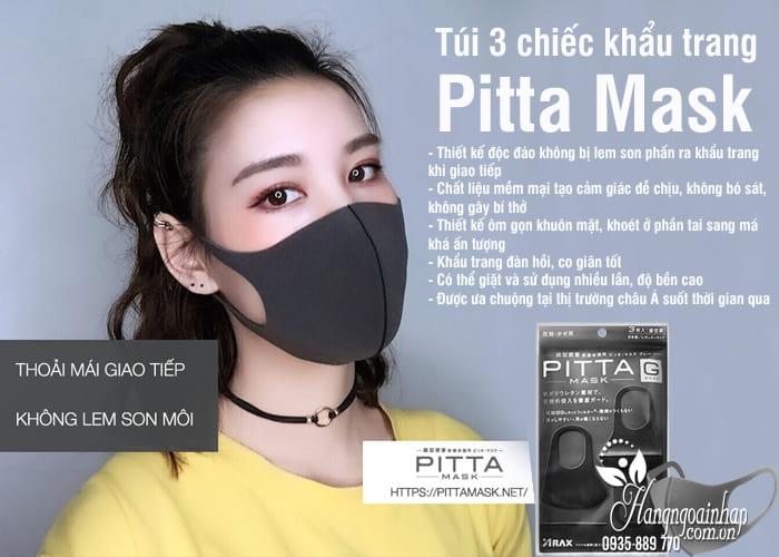 Túi 3 chiếc khẩu trang Pitta Mask của Nhật thời trang 4