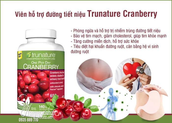 Viên hỗ trợ đường tiết niệu Trunature Cranberry 650mg của Mỹ 6