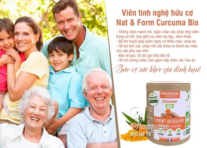 Viên tinh nghệ hữu cơ Nat & Form Curcuma Bio 200 viên Pháp 4