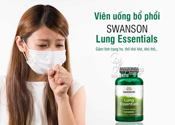 Viên uống bổ phổi Swanson Lung Essentials 500mg 120 viên Mỹ 1