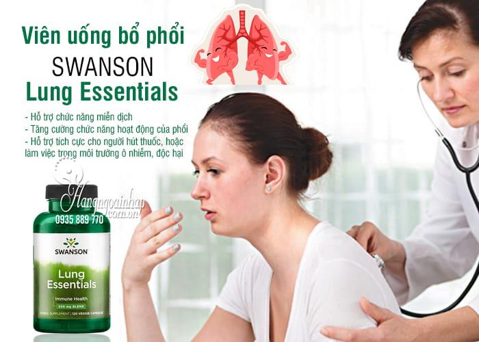 Viên uống bổ phổi Swanson Lung Essentials 500mg 120 viên Mỹ 8