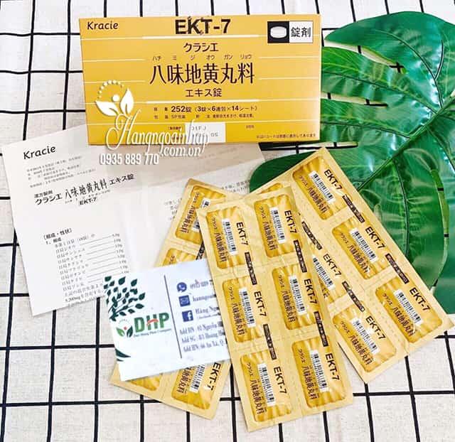 Viên uống bổ thận EKT-7 Kracie Hachimi Nhật Bản chính hãng 2