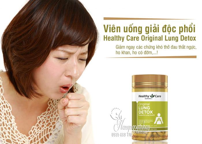 Viên uống giải độc phổi Healthy Care Original Lung Detox Úc 5