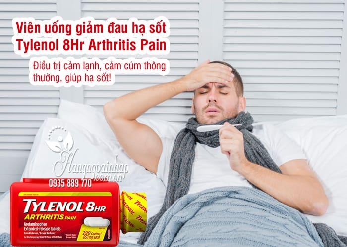 Viên uống giảm đau hạ sốt Tylenol 8Hr Arthritis Pain 650mg Mỹ 3