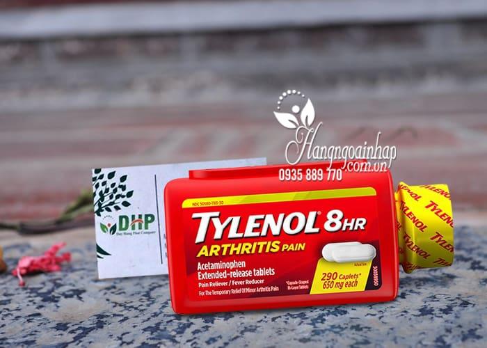 Viên uống giảm đau hạ sốt Tylenol 8Hr Arthritis Pain 650mg Mỹ 1