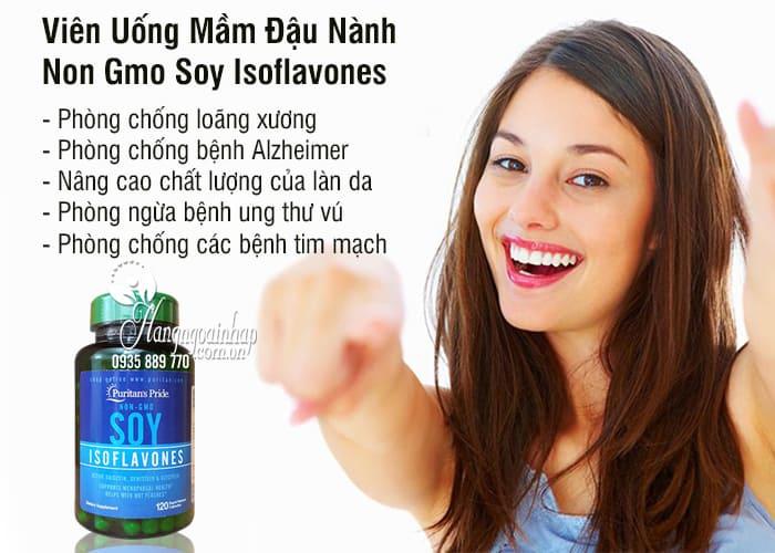 Viên Uống Mầm Đậu Nành Non Gmo Soy Isoflavones 120 Viên Của Mỹ 12