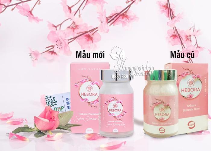 Viên uống thơm cơ thể Hebora Sakura Damask Rose Nhật 60 viên 1