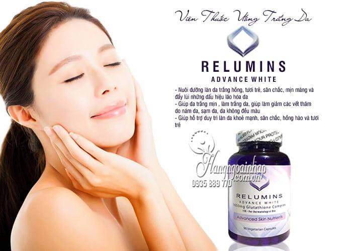 Viên Thuốc Uống Trắng Da Relumins Advance White 1650mg Của Mỹ 5