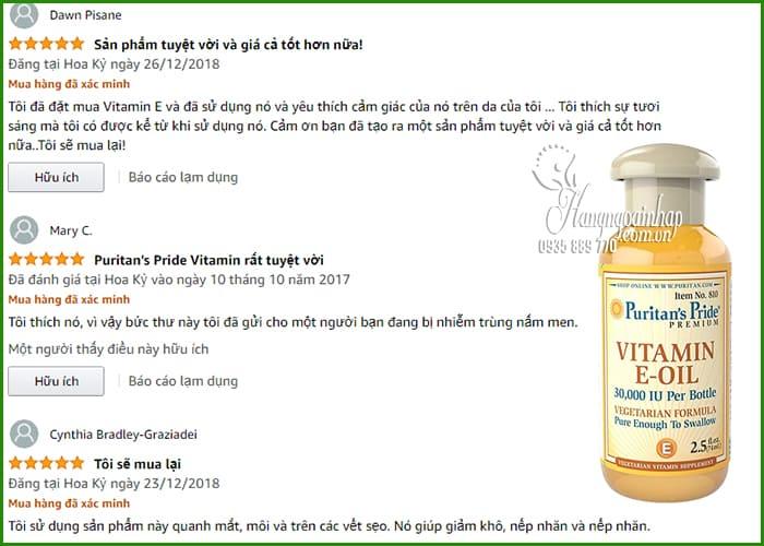 Vitamin E-Oil Puritans Pride tinh khiết 30.000IU dạng nước 74ml của Mỹ 9