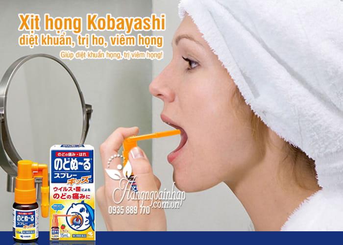 Xịt họng Kobayashi 15ml diệt khuẩn, trị ho, viêm họng 7