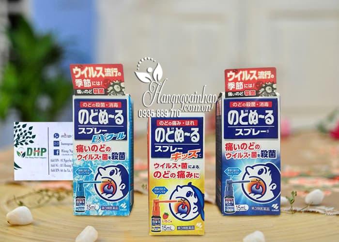 Xịt họng Kobayashi 15ml diệt khuẩn, trị ho, viêm họng 1