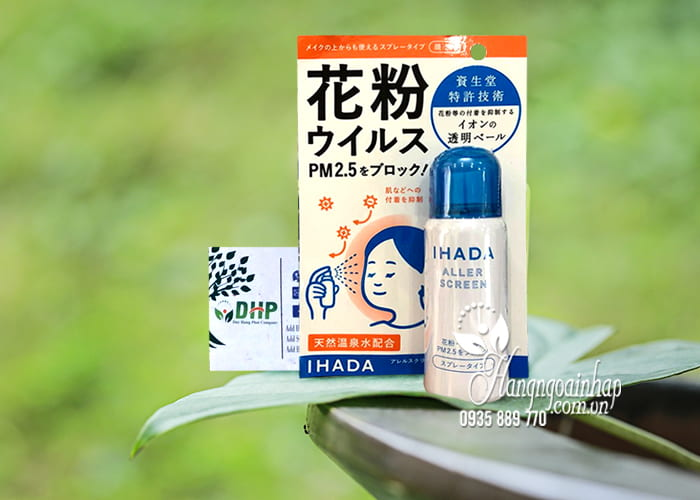 Xịt kháng khuẩn, bụi mịn Ihada Shiseido PM 2.5 Nhật Bản 5