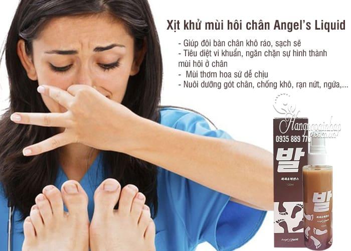 Xịt khử mùi hôi chân Angel's Liquid 100ml của Hàn Quốc 2