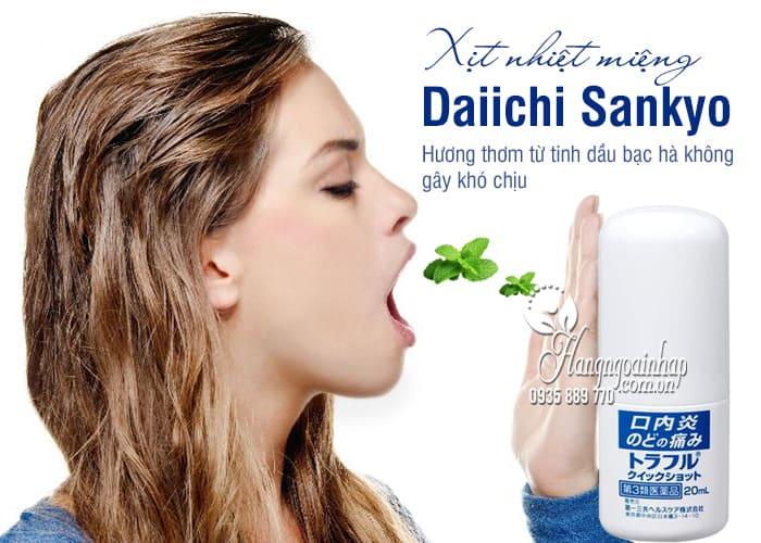 Xịt nhiệt miệng Daiichi Sankyo 20ml chính hãng Nhật Bản 1