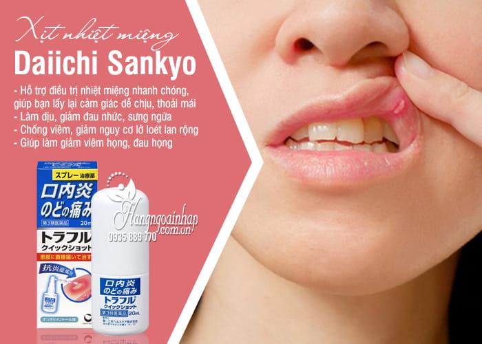 Xịt nhiệt miệng Daiichi Sankyo 20ml chính hãng Nhật Bản 5