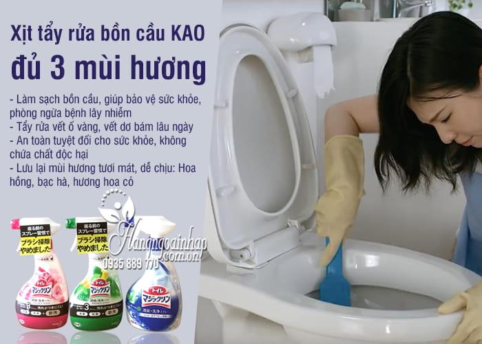 Xịt tẩy rửa bồn cầu KAO Nhật Bản, đủ 3 mùi hương 2