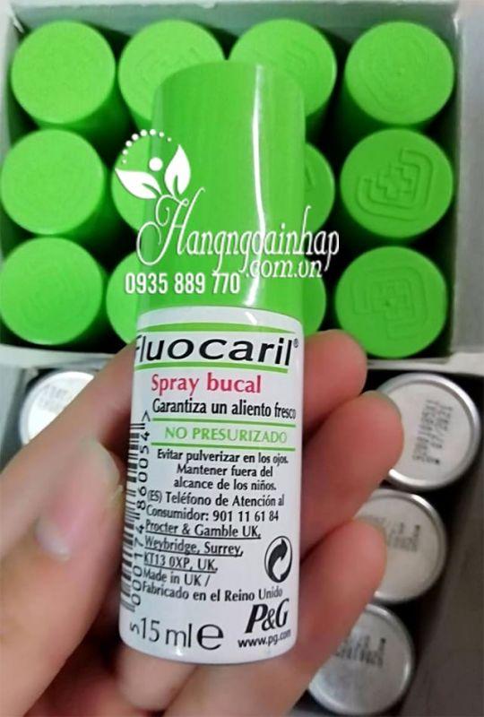 Xịt thơm miệng Fluocaril Spray Buccal 15ml chính hãng Pháp 5