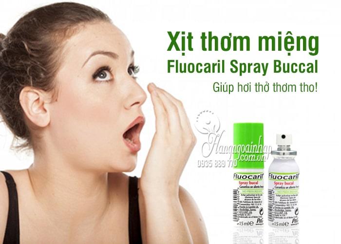 Xịt thơm miệng Fluocaril Spray Buccal 15ml chính hãng Pháp 1