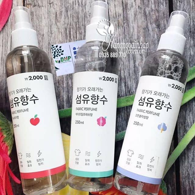 Xịt thơm quần áo Fabric Perfume 250ml của Hàn Quốc 8
