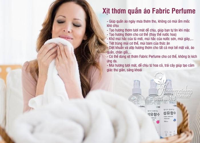 Xịt thơm quần áo Fabric Perfume 250ml của Hàn Quốc 2