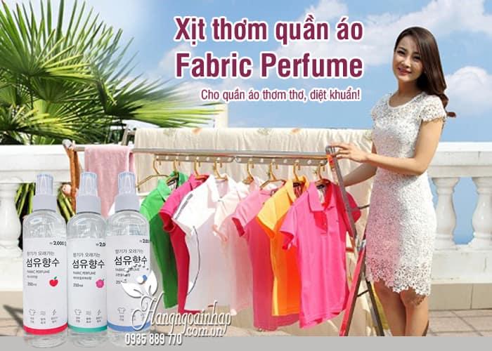 Xịt thơm quần áo Fabric Perfume 250ml của Hàn Quốc 7