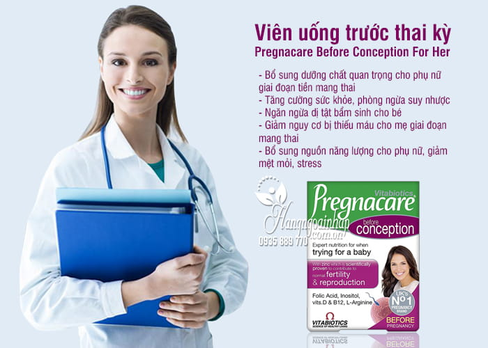 Viên uống trước thai kỳ Pregnacare Before Conception For Her 12