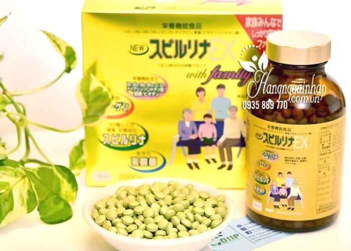 Tảo vàng cao cấp Spirulina EX Nhật Bản hộp 2000 viên  7