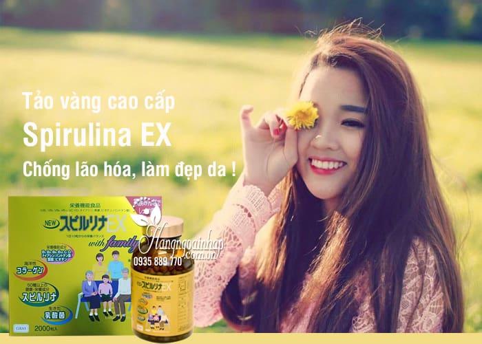 Tảo vàng cao cấp Spirulina EX Nhật Bản hộp 2000 viên  4