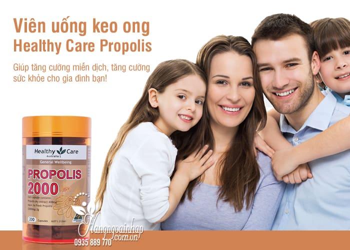 Viên uống keo ong Healthy Care Propolis 2000mg 200 viên của Úc 7