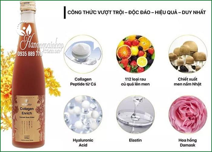 Nước uống Collagen Enrich Hebora 500ml Nhật, chống lão hóa 2