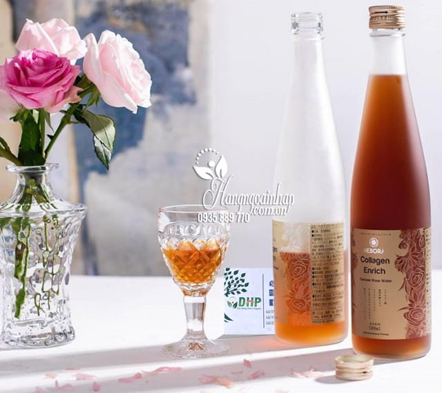 Nước uống Collagen Enrich Hebora 500ml Nhật, chống lão hóa 9