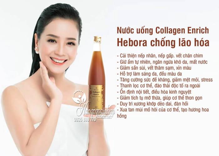 Nước uống Collagen Enrich Hebora 500ml Nhật, chống lão hóa 1