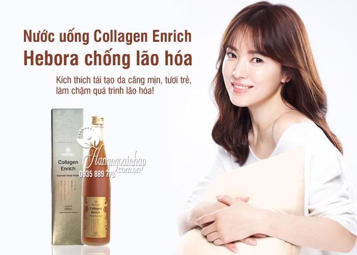 Nước uống Collagen Enrich Hebora 500ml Nhật, chống lão hóa 8