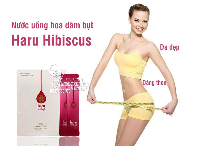 Nước uống hoa dâm bụt Haru Hibiscus giảm cân đẹp da 30 gói 4