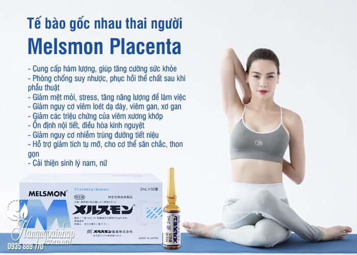Tế bào gốc nhau thai người Melsmon Placenta Nhật 50 ống x 2ml 6