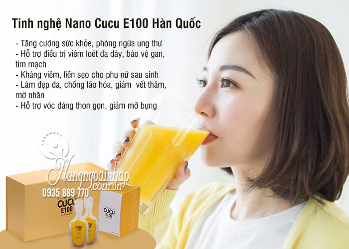 Tinh nghệ Nano Cucu E100 Curcumin Hàn Quốc 32 ống x 3 1