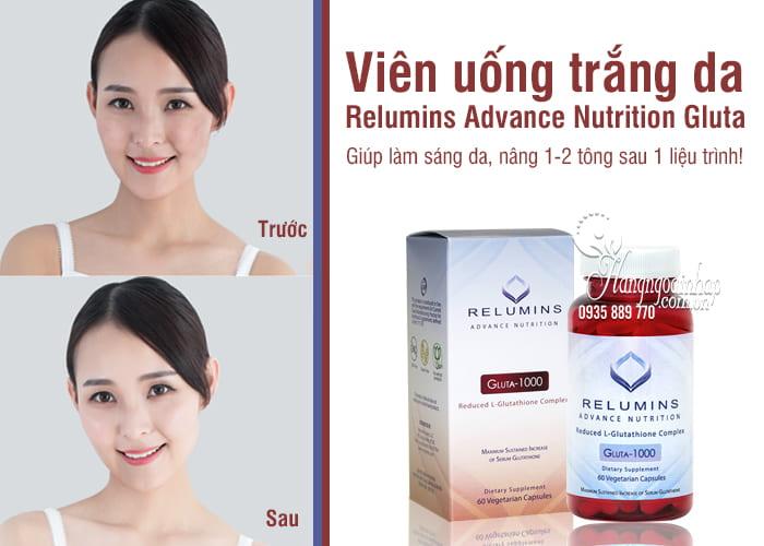 Viên uống trắng da Relumins Advance Nutrition Gluta-1000 Mỹ 9