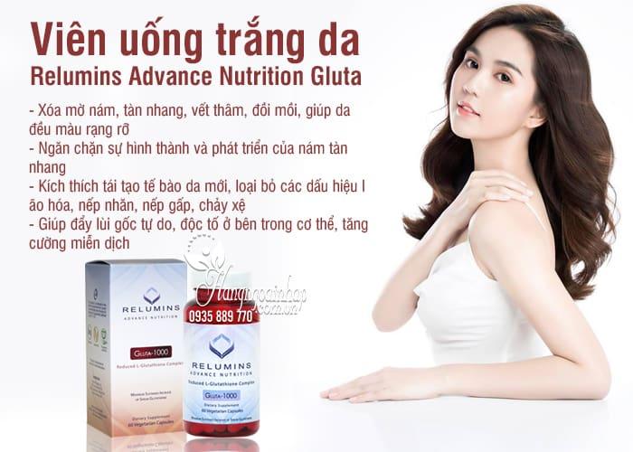 Viên uống trắng da Relumins Advance Nutrition Gluta-1000 Mỹ 7