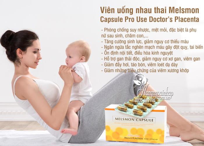 Viên uống nhau thai Melsmon Capsule Pro Use Doctor's Placenta 4