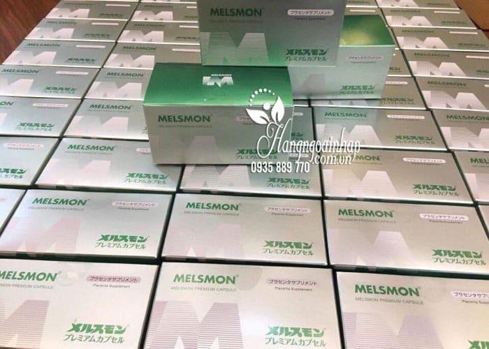 Viên uống nhau thai Melsmon Premium Capsule Nhật 120 viên 1